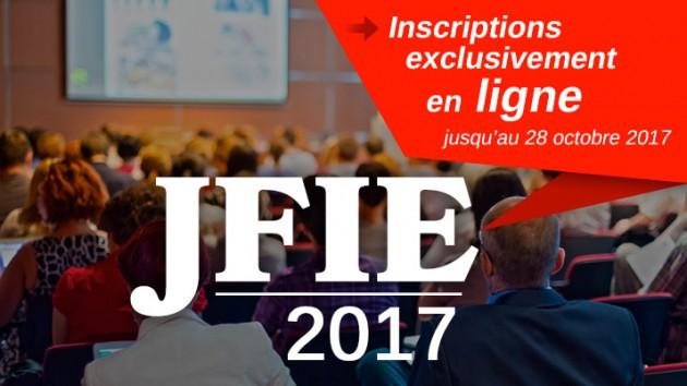 JFIE 2017 : les inscriptions sont ouvertes !